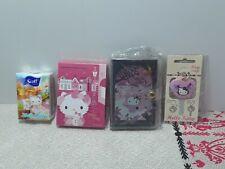 Hello Kitty Sanrio Lot of 4 items key cap notepad photo holder scott tissue