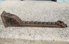 """Large Antique 38"""" Key Shaped Wood Corbel Architectural Salvage Chippy Arch"""