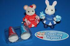 Calico Critters Adorable Cloverleaf Corners Cheerleaders