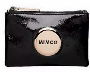 MIMCO Small Pouch Black Wallet Purse Clutch Rose Gold Bag BNWT RRP$79.95 Patent