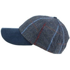 Nueva Gorra Sombrero de Lana Béisbol Tweed Marrón Azul Parche Caza País caminar lluvia