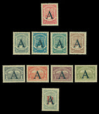 COLOMBIA 1923  Airmail SCADTA Consular ovpt.  GERMANY  Sc# CLA25-33 mint MH