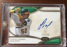 YOENIS CESPEDES 2014 TOPPS ACCLAIMED AUTOGRAPHS SIGNED AUTO CARD AA-YC 218/299
