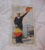 WILLS'S CIGARETTES TRADING TOBACCO CARD  LIFE IN THE ROYAL NAVY  T*