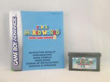 Nintendo Gameboy Advance GBA SP DS - Super Mario World Super Mario Advance 2