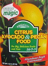 Turf Magic Premium Fruit Citrus Avocado & Pecan Tree Food / Fertilizer 3 Lb