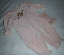 Gymboree Forest Trails Baby Girl 3-6 Month One Piece Velour Outfit NWT