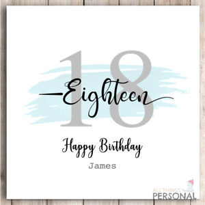 18th Birthday Card Male Personalised for Son Brother Nephew Grandson Mens Boys