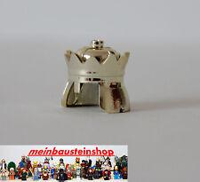 Lego ® minifigura caballero rey corona de oro/Chrome 71015 de 7094 7097 7946 10223