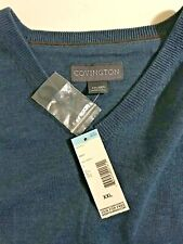 Men's Covington, Size XXL  Blue V-neck Sweater, New with Tags