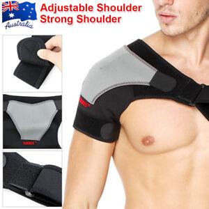 Shoulder Support Brace Adjustable Compression Strap Heat Patch Sports Protection