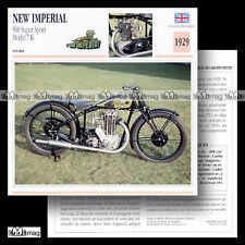 #051.08 NEW IMPERIAL 500 SUPER SPORT MODEL 7 B 1929 Fiche Moto Motorcycle Card