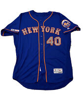 MLB Authenticated - Wilson Ramos Blue Jersey Issued By New York Mets