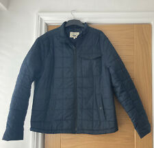 Next Mens Quilted Jacket Coat XL Navy Blue Used