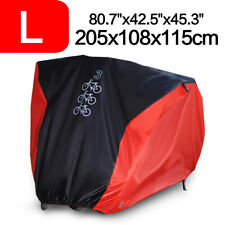 L Waterproof Bicycle Mountain Bike Cover Storage UV Dust Protector For 3 Bikes