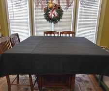 """Tablecloth 70"""" x 70"""" US Square Black NEW Polyester Fabric Holiday Party sq linen"""