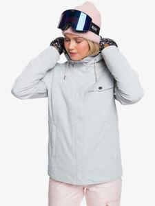 Roxy Billie Heather Grey SJEH Womens Snowboard Ski Jacket NEW Medium