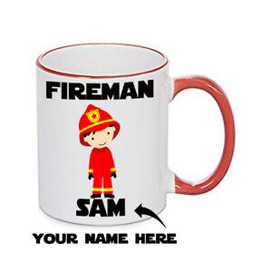 FIREMAN MUG Personalised Mug - TRAVEL MUG - WATER BOTTLE - FIREMAN GIFT