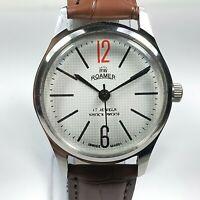 Vintage Roamer Mechanical Hand Winding Movement Mens Analog Wrist Watch AC536