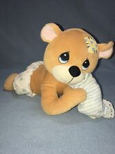 "Precious Moments 12"" Brown Bear Pillow Musical Wish Upon A Star Head Moves 1999"