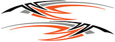 2 RV Car Truck Trailer Side Accent Decals Graphics Stripes Vinyl PB1286