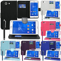 Housse Etui Coque Portefeuille Support Video Sony Xperia Z3 Compact D5803 D5833