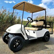 EZ GO TXT Gas Golf Cart With Rear Flip and Custom Rims & Tires