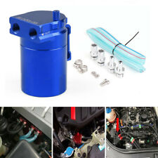 Oil Catch Can Kit Reservoir Tank Engine Blue Polish Baffled Universal Aluminum