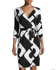 Diane von Furstenberg New Julian Two Chain link Huge Wrap Dress US size 12