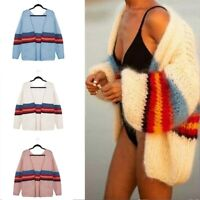 Outwear Sleeve Casual Sweater Cardigan Coat Loose Jacket Knitted Women Long Tops