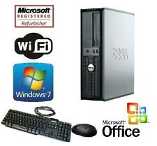 DELL DUAL CORE 2 DUO 3.0GHz TOWER WINDOWS 7 DESKTOP 4GB 500GB WiFi + MS OFFICE!
