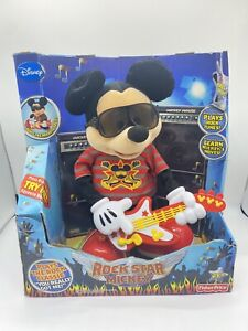 Fisher Price NEW Disney Rock Star Mickey Mouse Animated Singing Plush Toy in Box