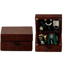 Mini Retro Vintage Holz Puppenhaus Miniatur Medical Box Fall-Schlafzimmer