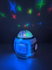 Starry Sky Nature Alarm Clock with Colorful Star Projection and Nature Sounds