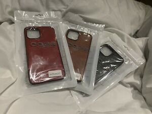 iPhone 12 Pro Max 6.7 Leather Combo Case/cover (Red/brown/black)