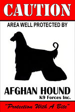 Protected By Afghan Hound K9 Forces Inc. 8x12 Inch Aluminum Sign