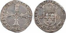 Henri IV, 1/4 ecu with leafy cross, Bayonne, 1603 - 25