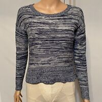 Banana Republic Women's Long Sleeve Pullover Sweater Round Neck Navy Blue Sz XS