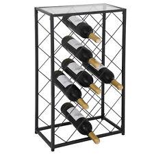 Steel Wine Rack Holder 23 Standard Bottles Square Storage W/ Stable Floor Levers