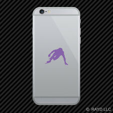 (2x) Speed Skater Cell Phone Sticker Mobile skating ice many colors