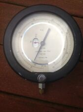 "Heise Pressure Gauge Front Cmm 50367 Newtown, Conn 7 3/4"" Face Works"