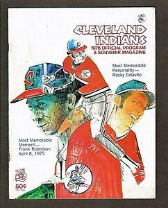 1976 Cleveland Indians vs Milwaukee Brewers Scorecard UNSCORED Frank Robinson