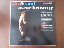 OSCAR BROWN JR Sin & Soul LP Columbia MONO CL1577 EX/VG