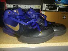 2009 Nike Zoom KOBE IV 4 GRADIENT LA LAKERS AWAY BLACK CONCORD GOLD PURPLE