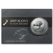 NEW ZEALAND: 2009 KIWI, 1 OZ SILVER BU $1 DOLLAR COIN!!! SCARCE!!!!