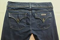 Hudson Womens Denim Blue Jeans Size 29 x 32 Straight Leg Dark Wash Flap Pocket
