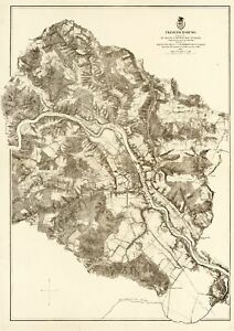 Fredericksburg Virginia - Milcher 1867 - 23.00 x 32.57