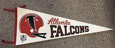 Vintage Atlanta Falcons Pennant Full Size NFL Pennant With Tassles