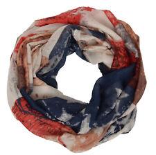 Loop Schal und Tuch Schlauchschal in USA Stars and Stripes Amerika Sterne Print