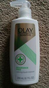 OLAY Sensitive Calming Liquid Facial Cleanser 6.7 oz FRAGRANCE FREE